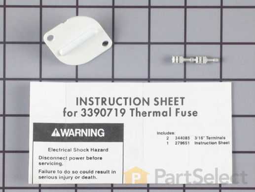 Disposable Thermal Fuse - Two Terminal – Part Number: WP3390719