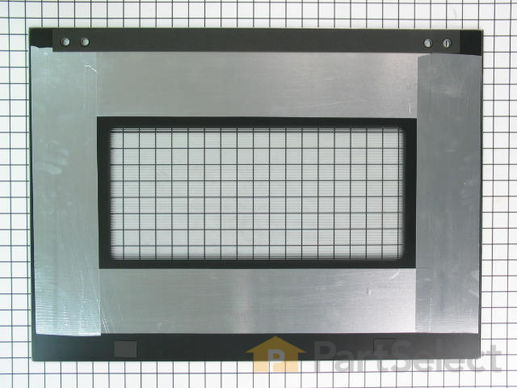 Exterior Door Glass - Stainless – Part Number: W10401225